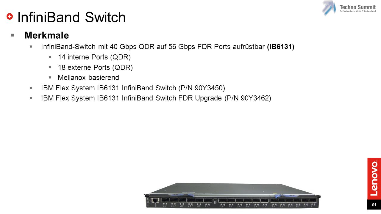 InfiniBand Switch Merkmale