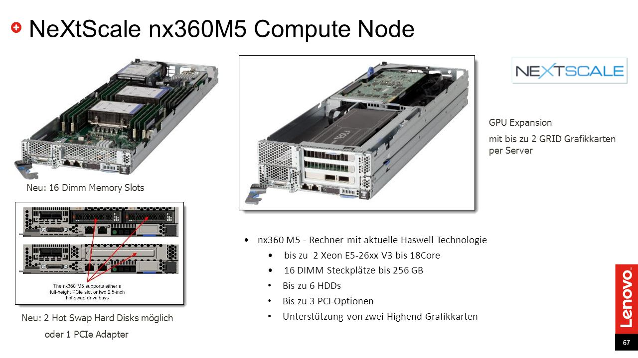 NeXtScale nx360M5 Compute Node