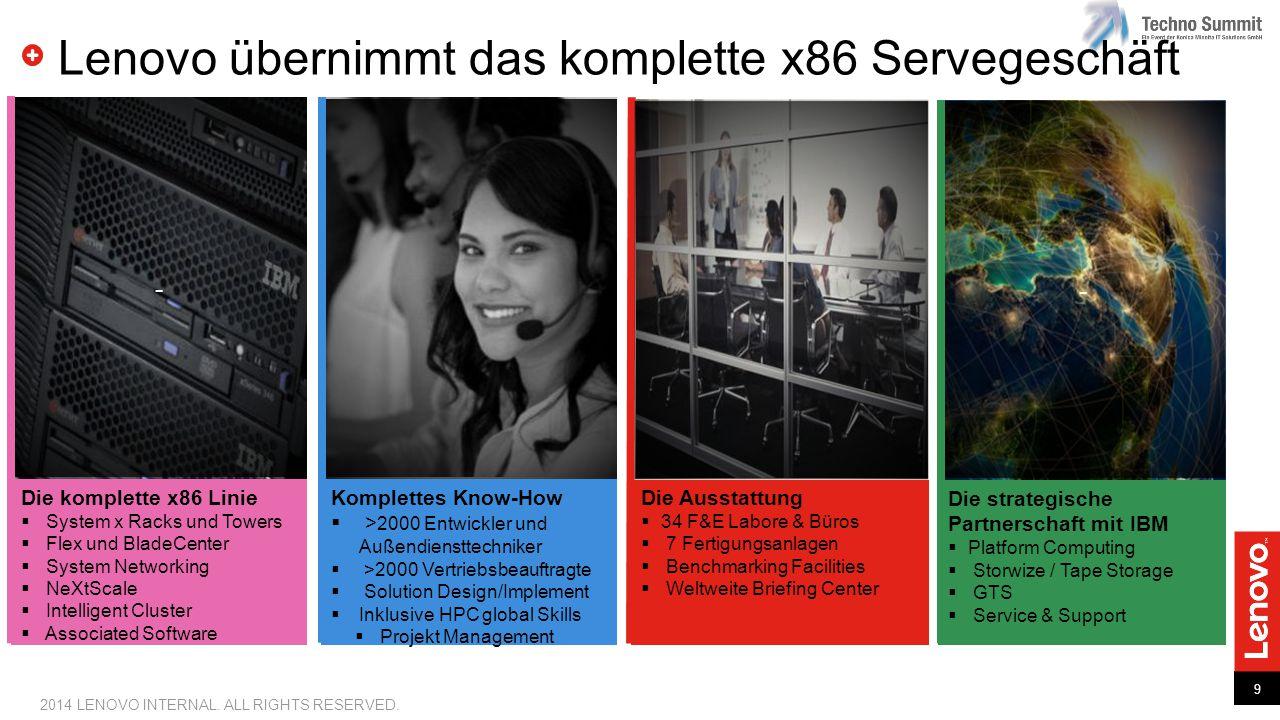 Lenovo übernimmt das komplette x86 Servegeschäft