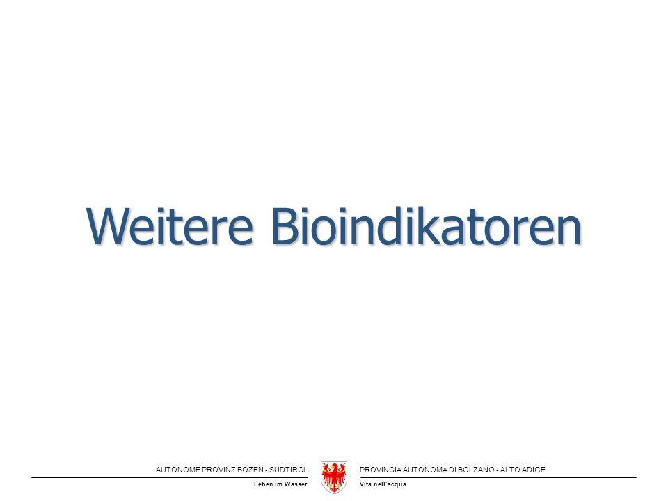 Weitere Bioindikatoren