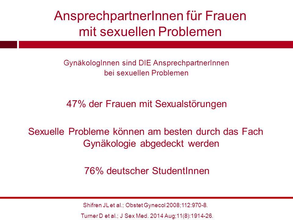 AnsprechpartnerInnen für Frauen mit sexuellen Problemen