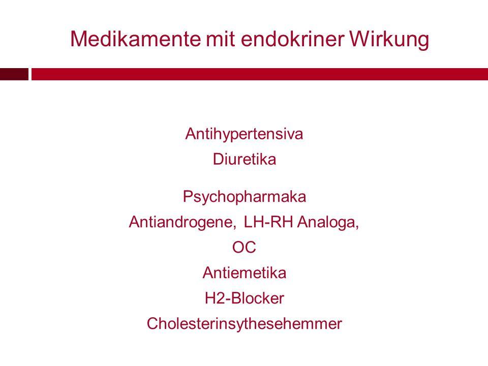 Medikamente mit endokriner Wirkung