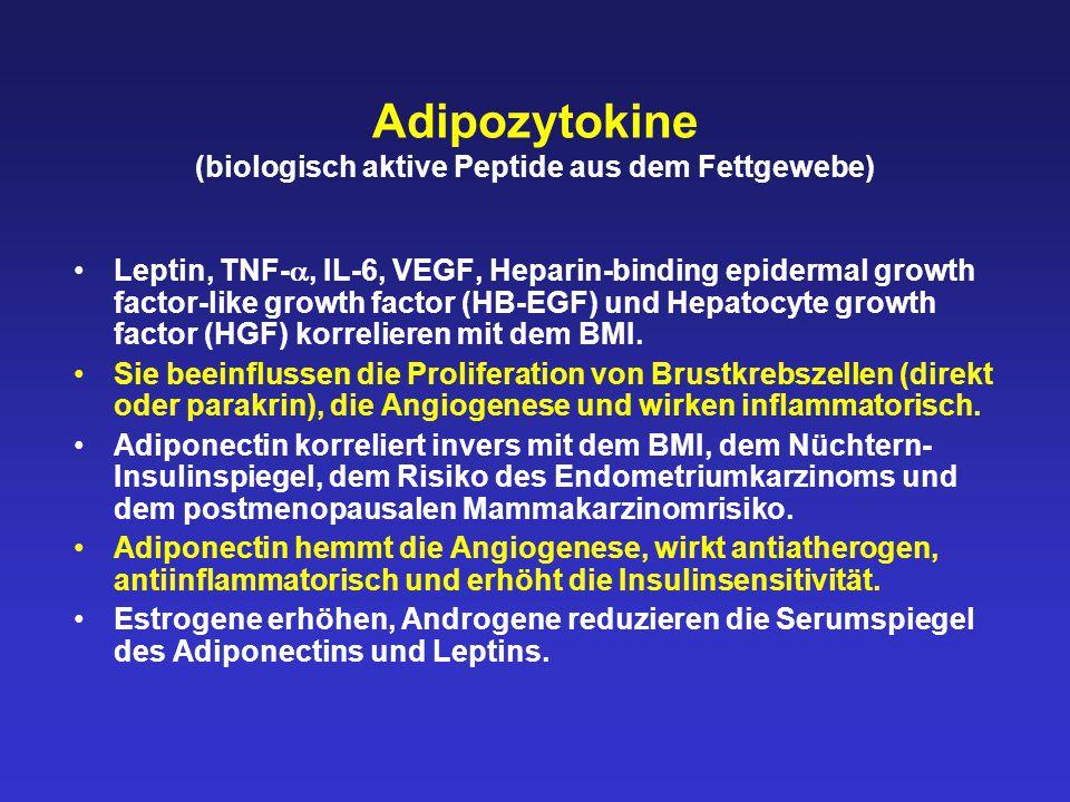 Adipozytokine (biologisch aktive Peptide aus dem Fettgewebe)