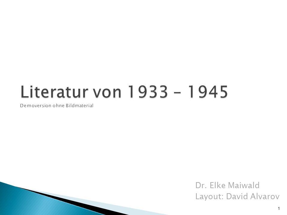 Literatur von 1933 – 1945 Demoversion ohne Bildmaterial