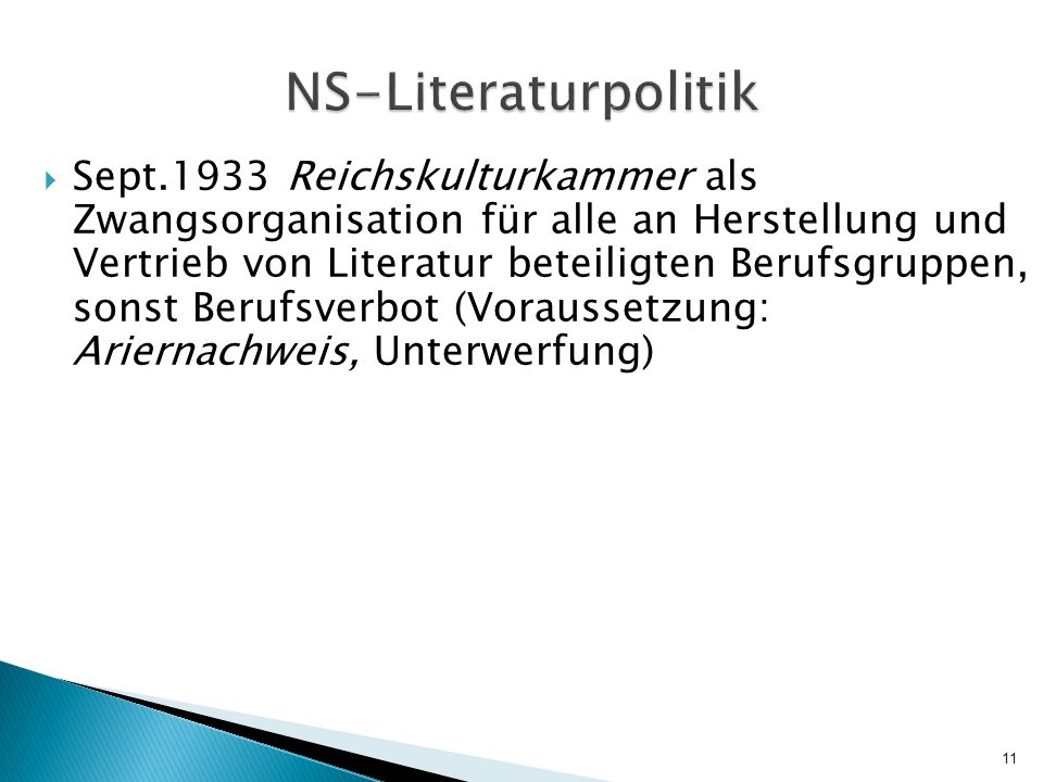 NS-Literaturpolitik
