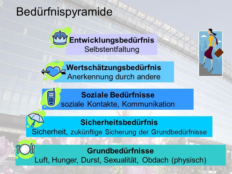Bedürfnispyramide Entwicklungsbedürfnis Selbstentfaltung