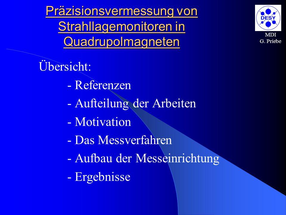 Präzisionsvermessung von Strahllagemonitoren in Quadrupolmagneten