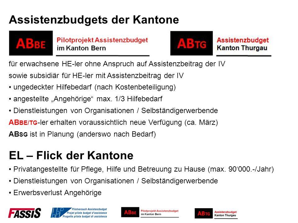 Assistenzbudgets der Kantone