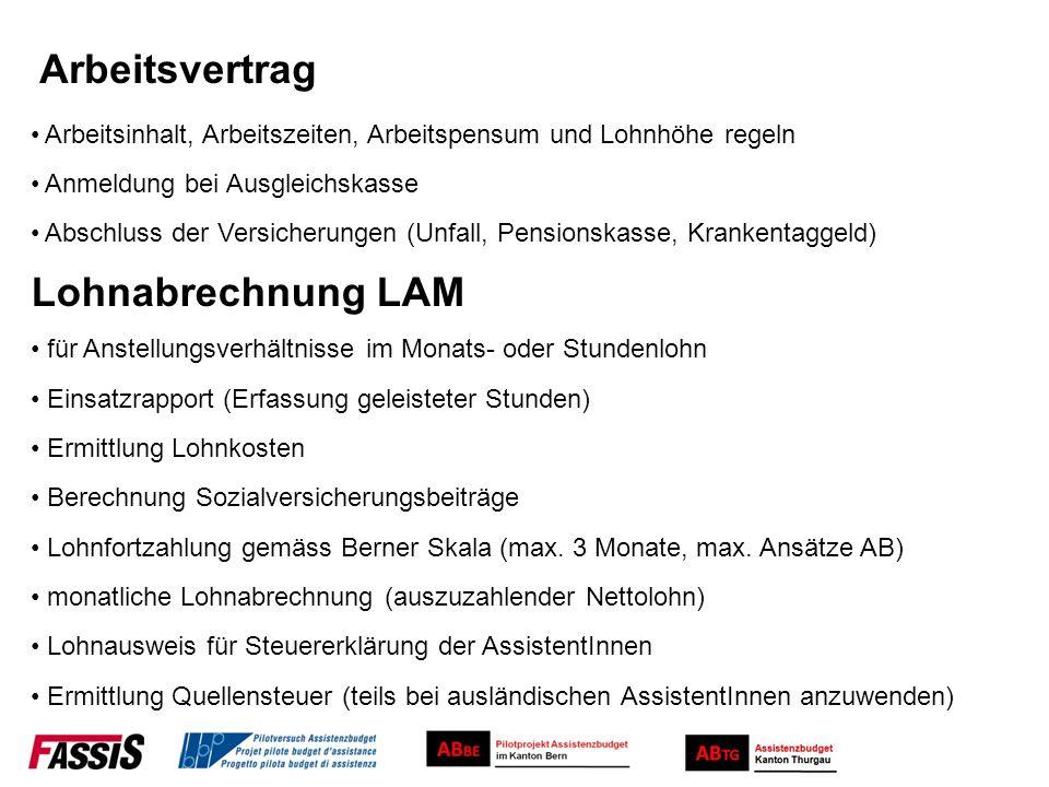 Arbeitsvertrag Lohnabrechnung LAM