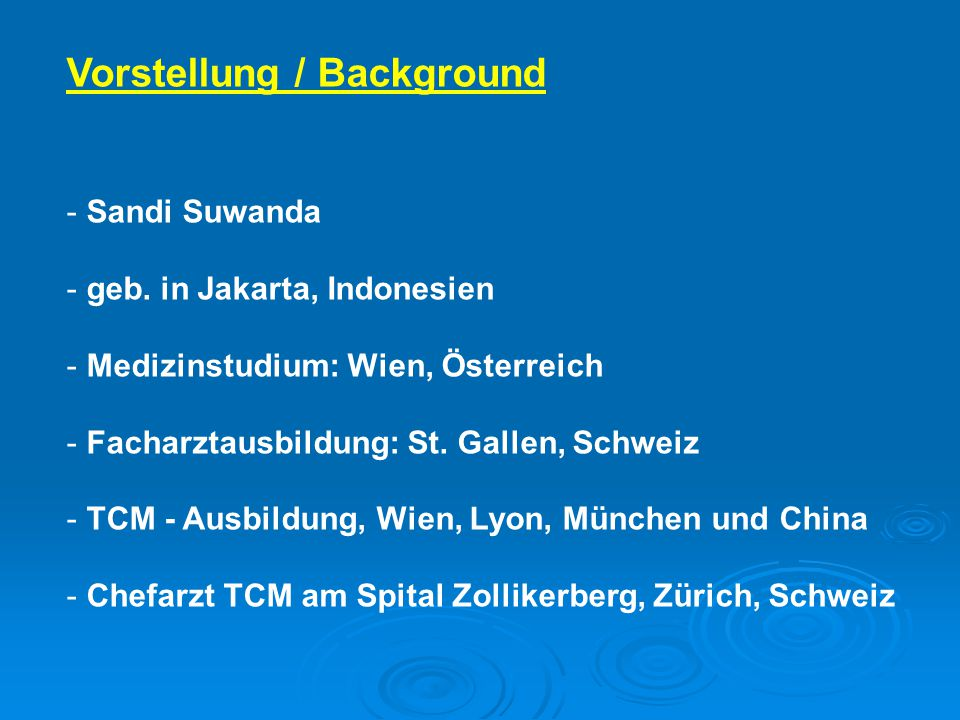 Vorstellung / Background