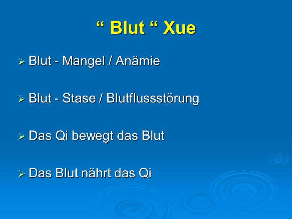 Blut Xue Blut - Mangel / Anämie Blut - Stase / Blutflussstörung