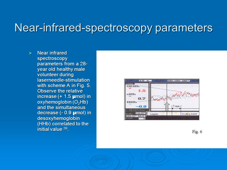 Near-infrared-spectroscopy parameters