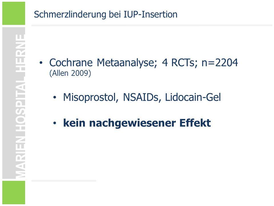 Cochrane Metaanalyse; 4 RCTs; n=2204 (Allen 2009)
