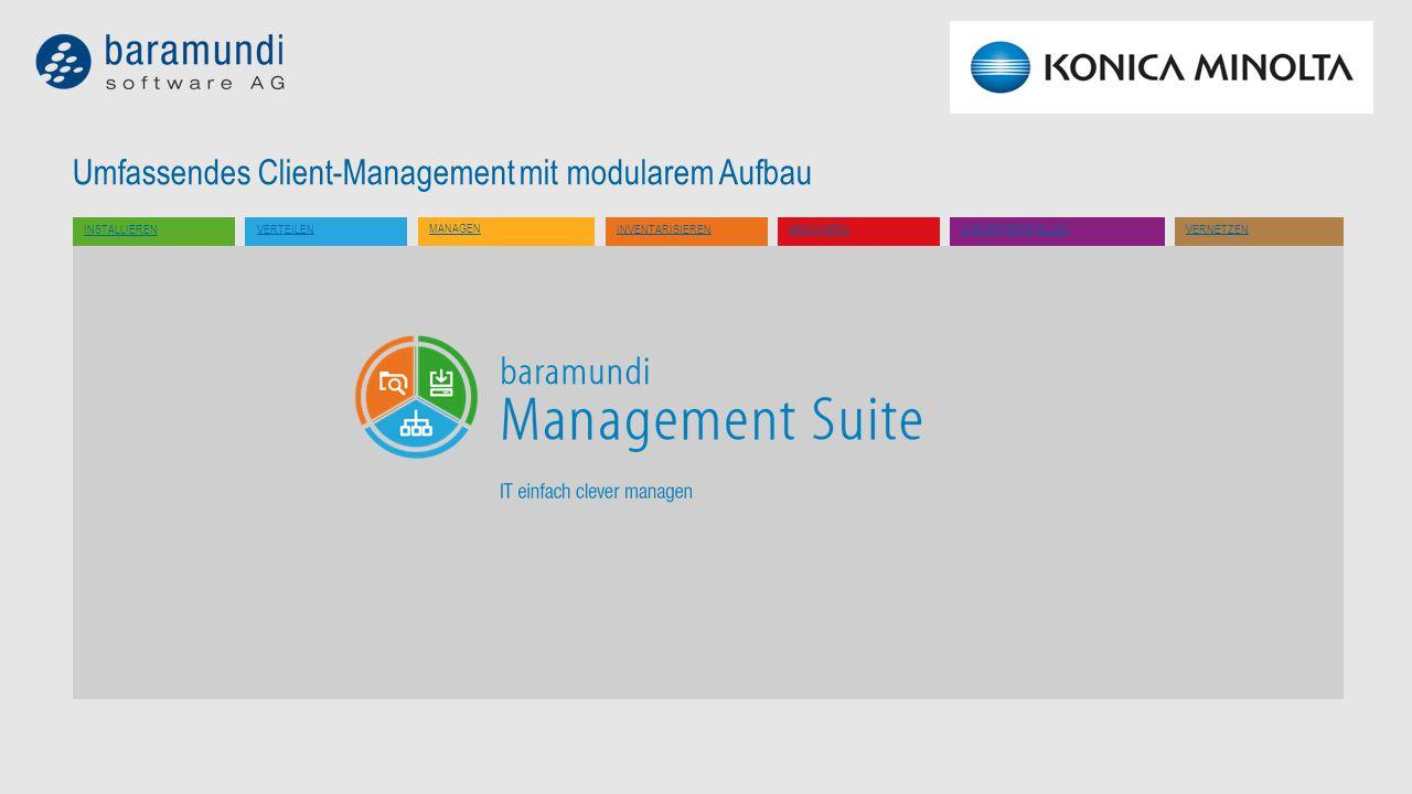 Umfassendes Client-Management mit modularem Aufbau