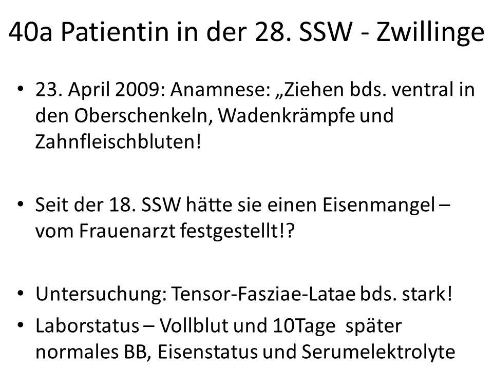 40a Patientin in der 28. SSW - Zwillinge