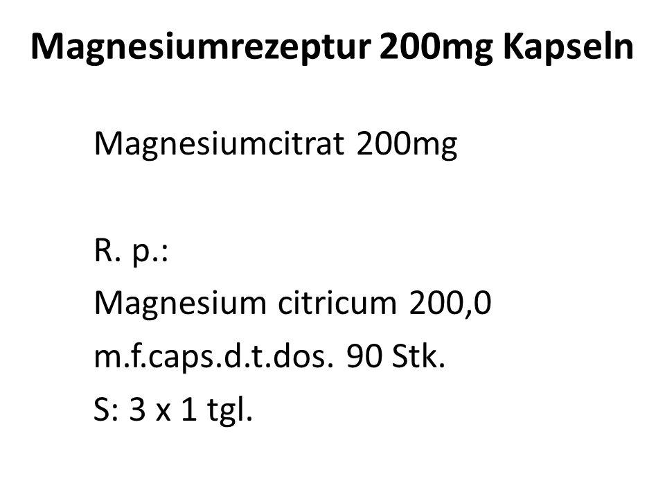 Magnesiumrezeptur 200mg Kapseln