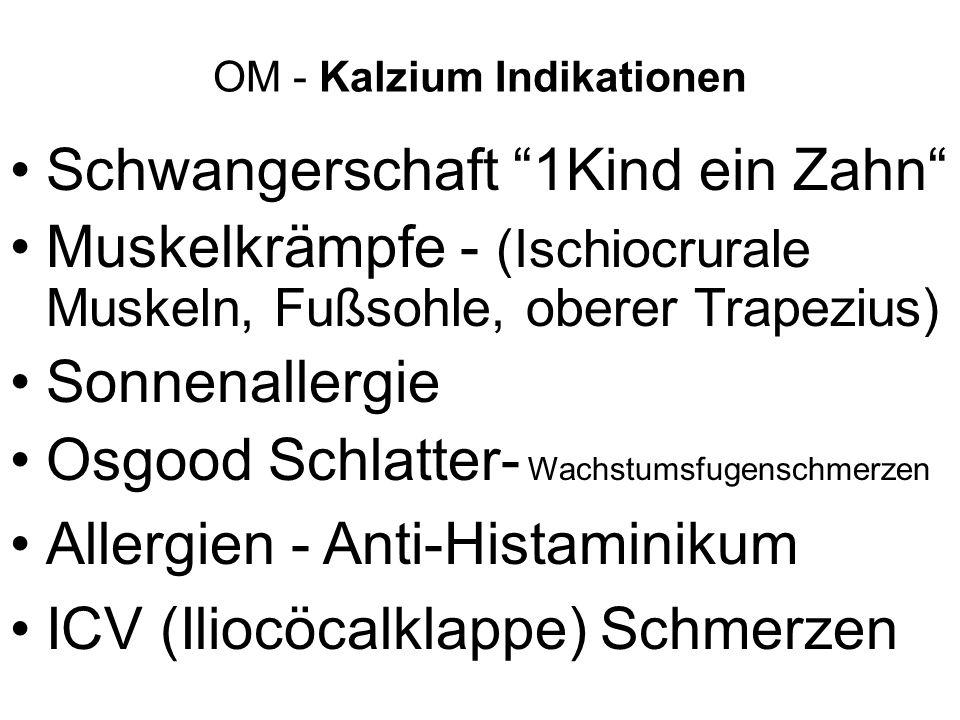OM - Kalzium Indikationen