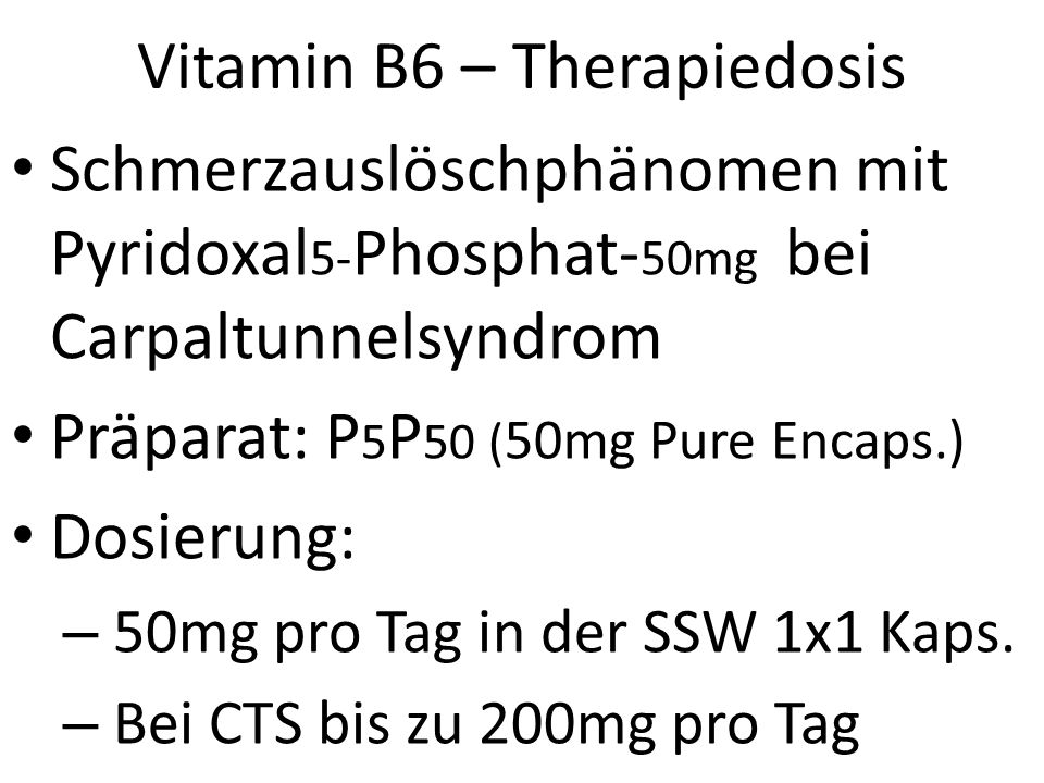 Vitamin B6 – Therapiedosis
