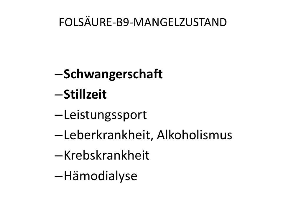 FOLSÄURE-B9-MANGELZUSTAND