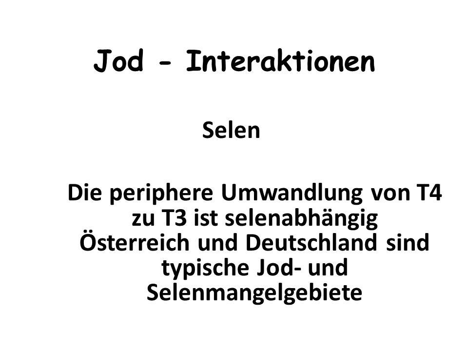 Jod - Interaktionen Selen