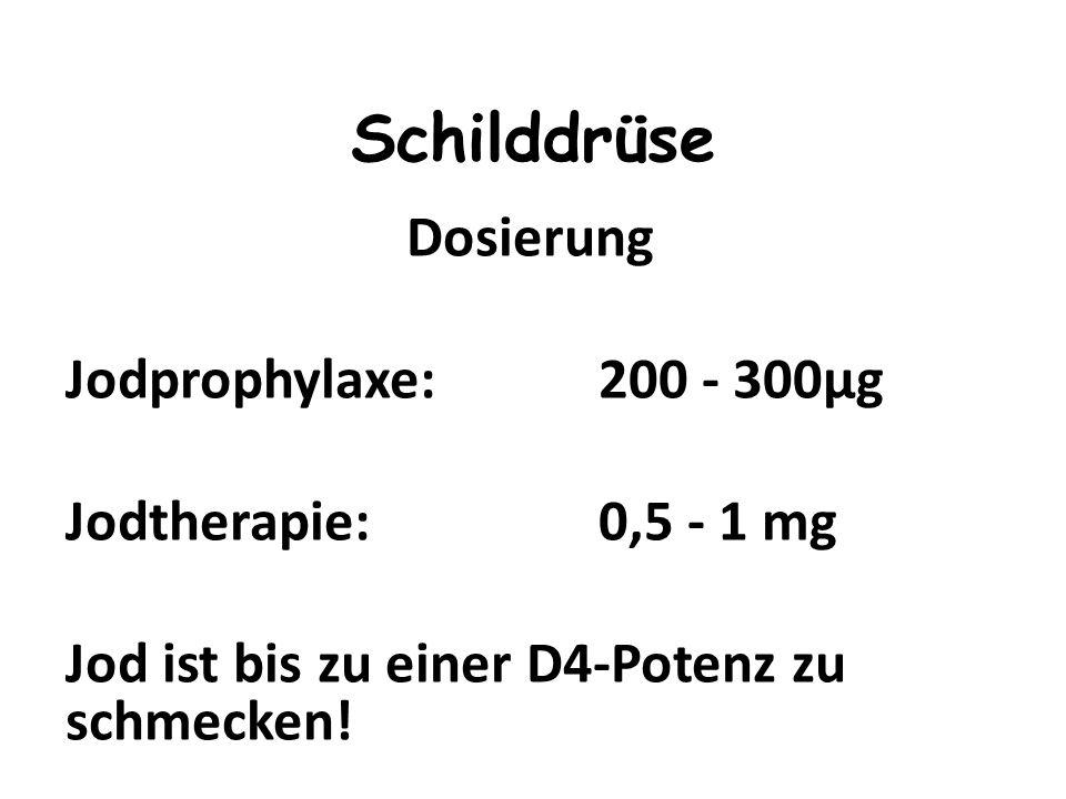 Schilddrüse Dosierung Jodprophylaxe: 200 - 300μg