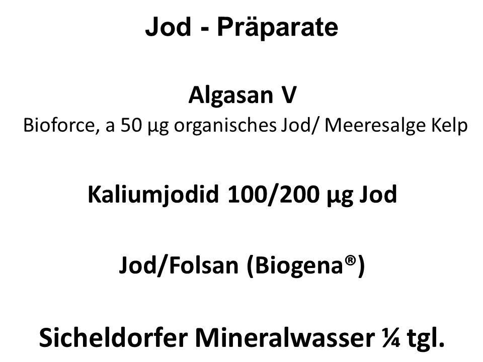 Jod/Folsan (Biogena®) Sicheldorfer Mineralwasser ¼ tgl.