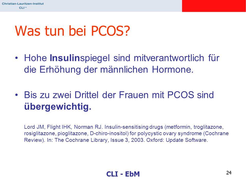 Was tun bei PCOS Hohe Insulinspiegel sind mitverantwortlich für die Erhöhung der männlichen Hormone.