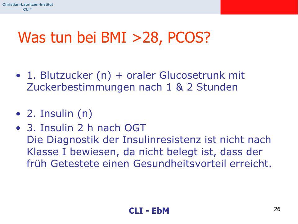 Was tun bei BMI >28, PCOS