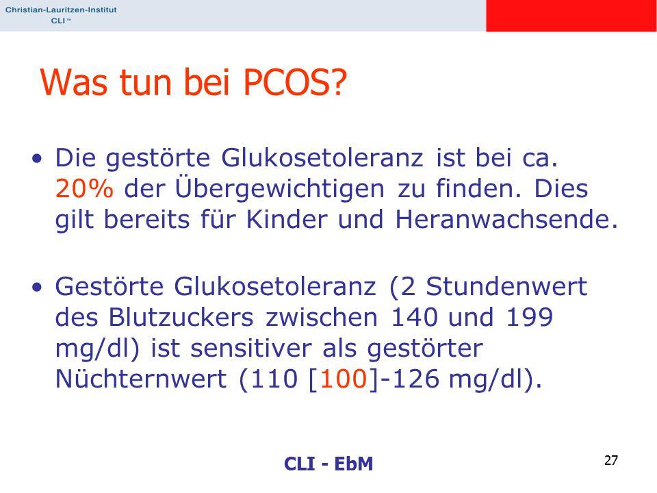 Was tun bei PCOS Die gestörte Glukosetoleranz ist bei ca. 20% der Übergewichtigen zu finden. Dies gilt bereits für Kinder und Heranwachsende.