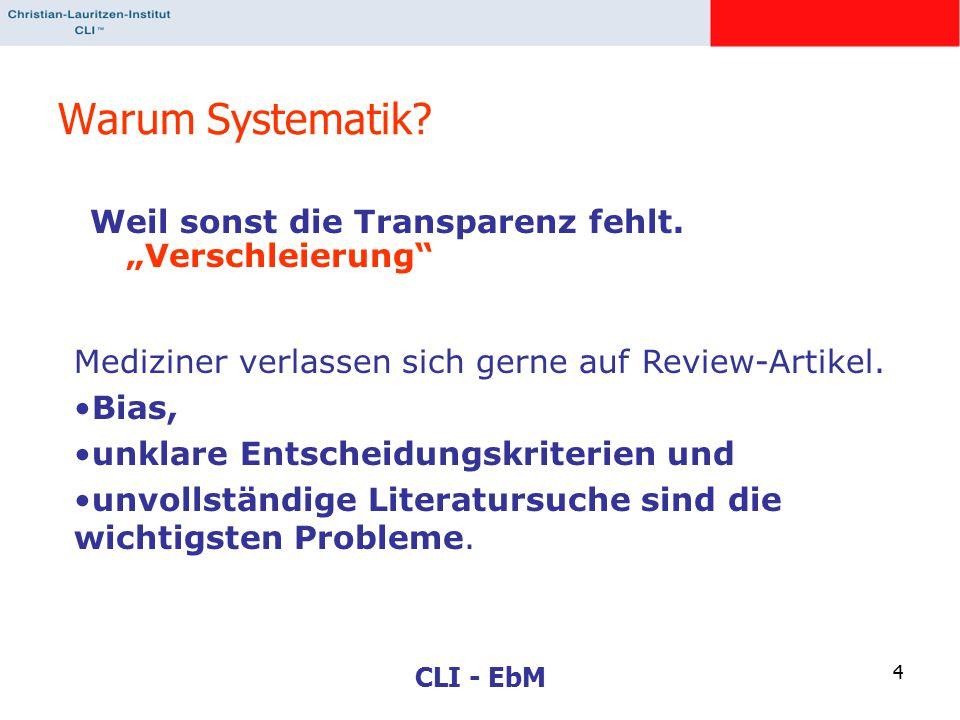 """Warum Systematik Weil sonst die Transparenz fehlt. """"Verschleierung"""