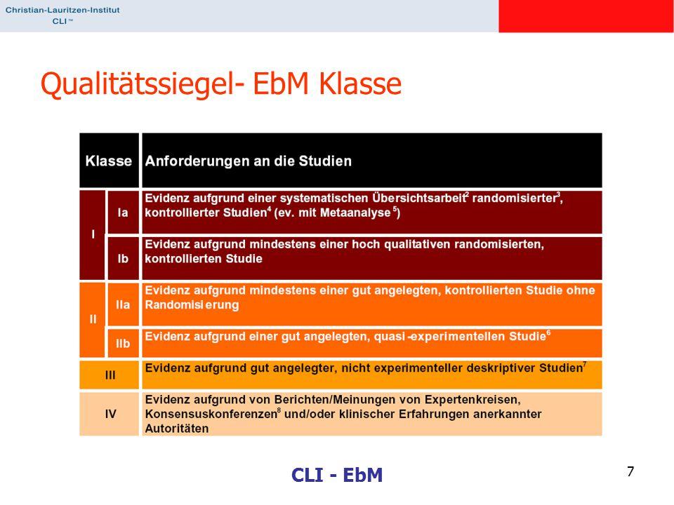 Qualitätssiegel- EbM Klasse