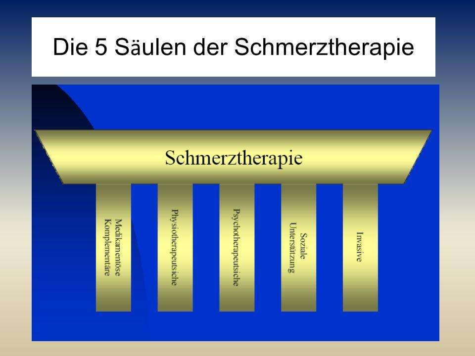 Die 5 Säulen der Schmerztherapie