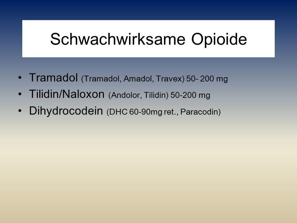 Schwachwirksame Opioide