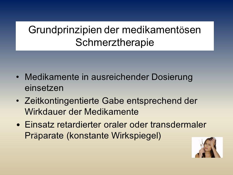 Grundprinzipien der medikamentösen Schmerztherapie