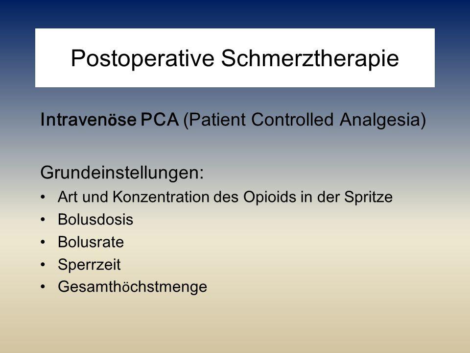 Postoperative Schmerztherapie