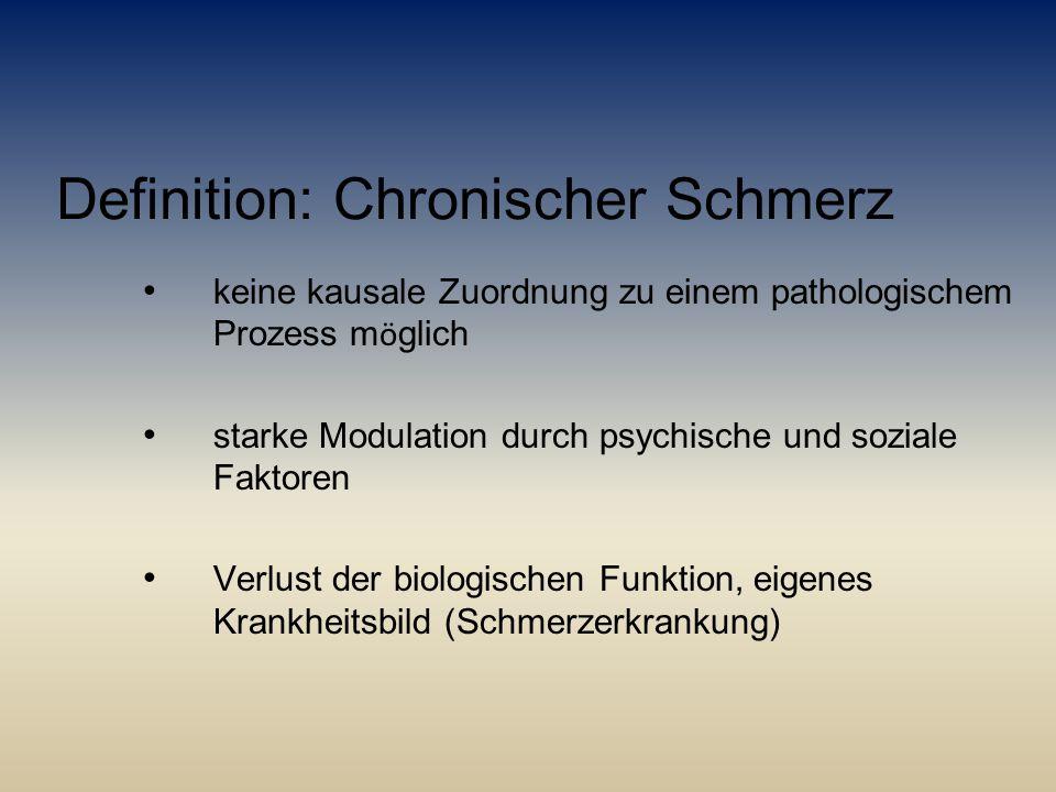 Definition: Chronischer Schmerz