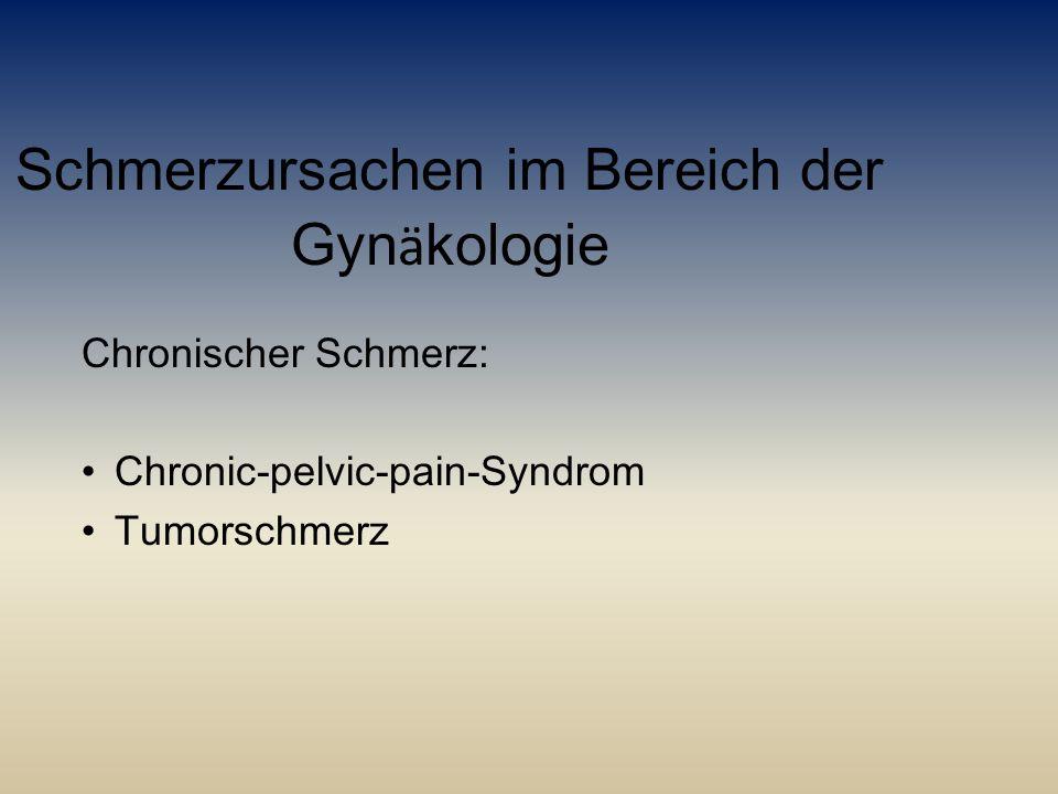 Schmerzursachen im Bereich der Gynäkologie