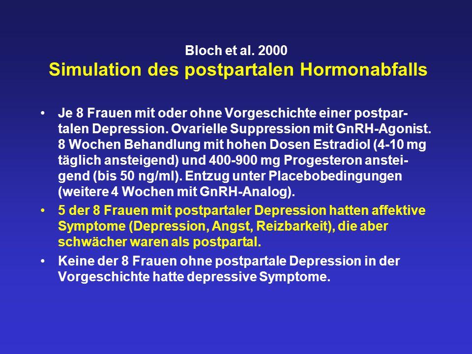 Bloch et al. 2000 Simulation des postpartalen Hormonabfalls