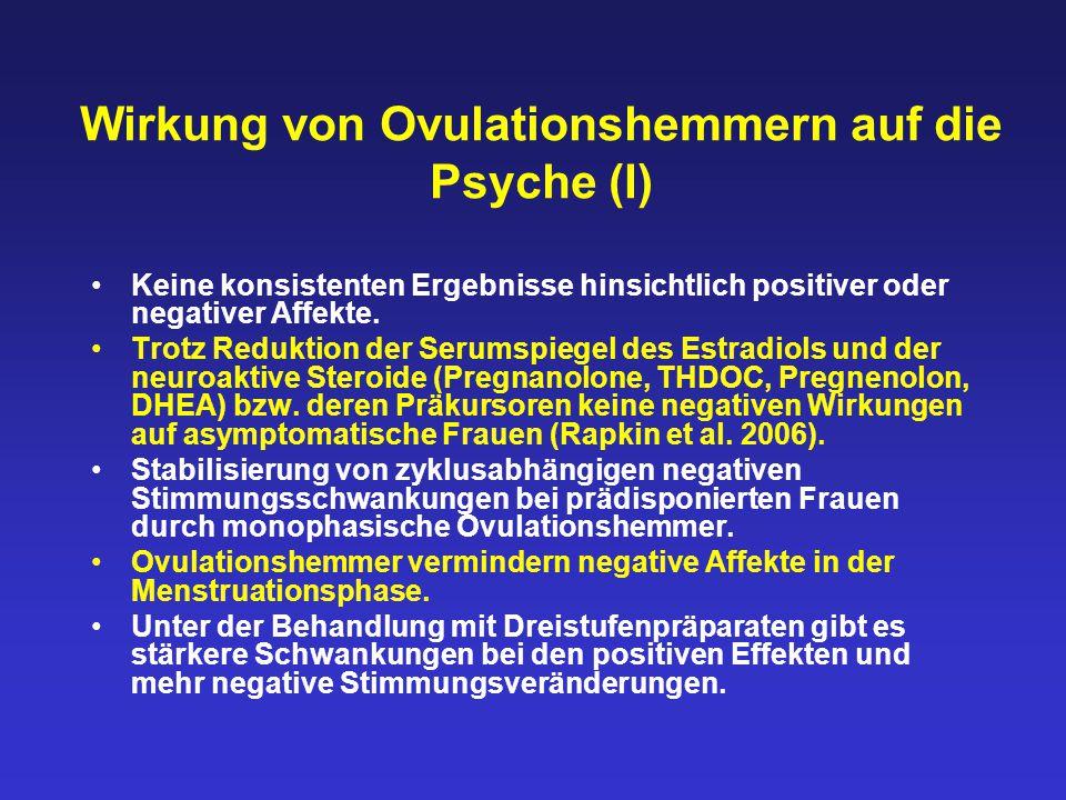 Wirkung von Ovulationshemmern auf die Psyche (I)