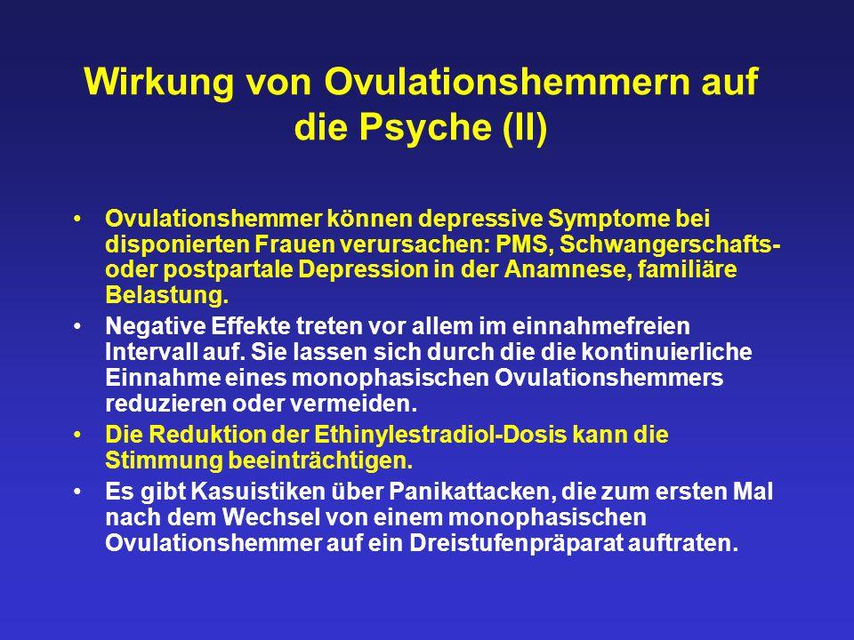 Wirkung von Ovulationshemmern auf die Psyche (II)