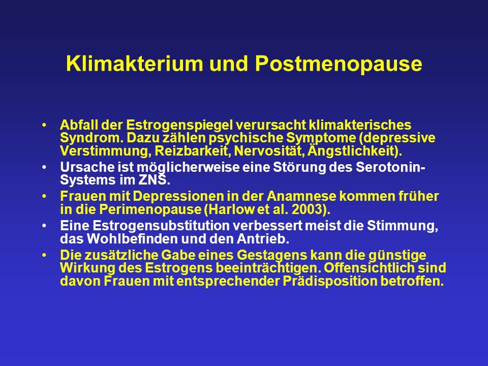 Klimakterium und Postmenopause