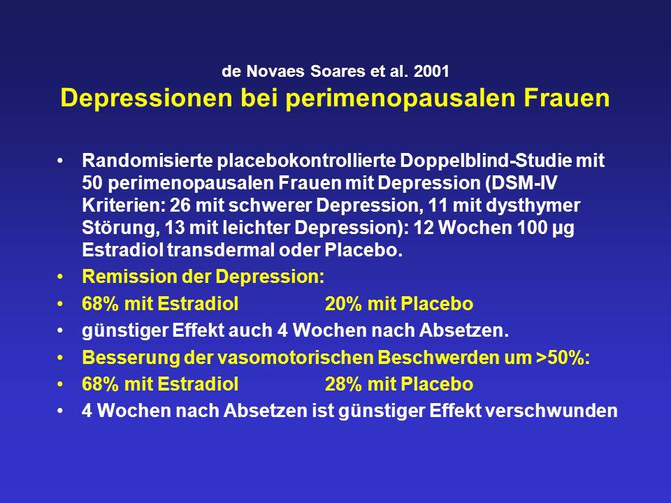 de Novaes Soares et al. 2001 Depressionen bei perimenopausalen Frauen