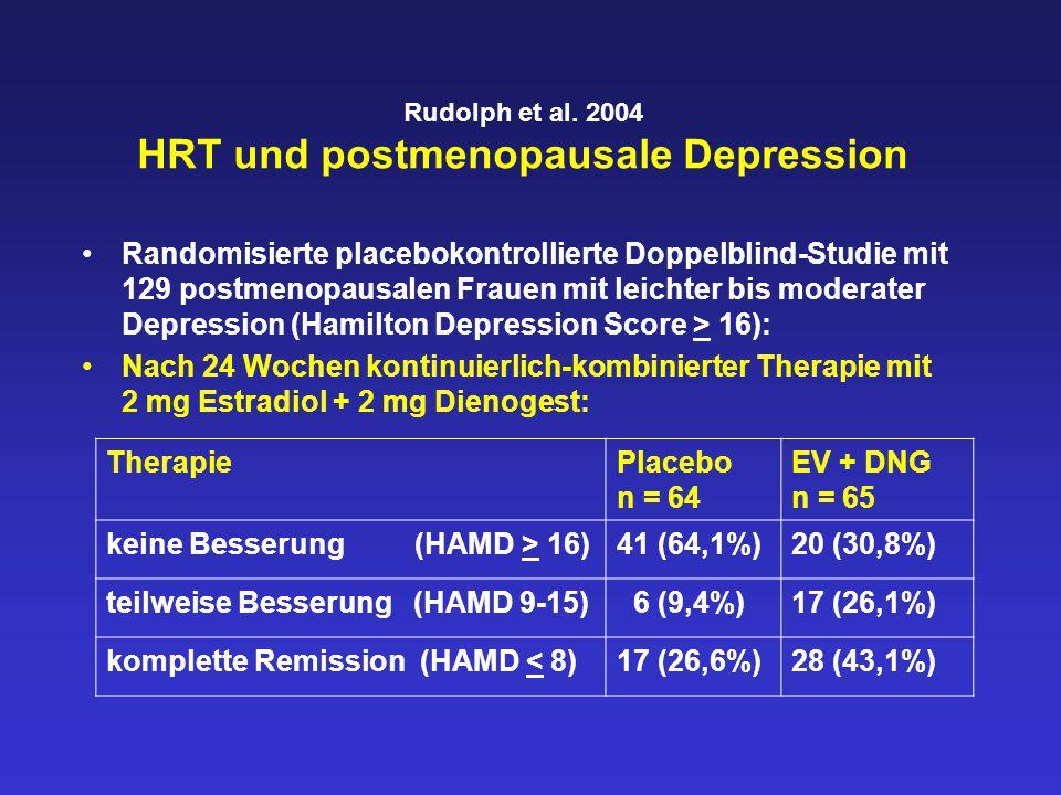 Rudolph et al. 2004 HRT und postmenopausale Depression