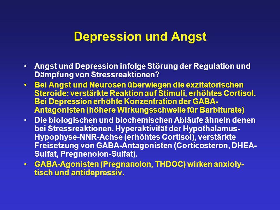 Depression und Angst Angst und Depression infolge Störung der Regulation und Dämpfung von Stressreaktionen