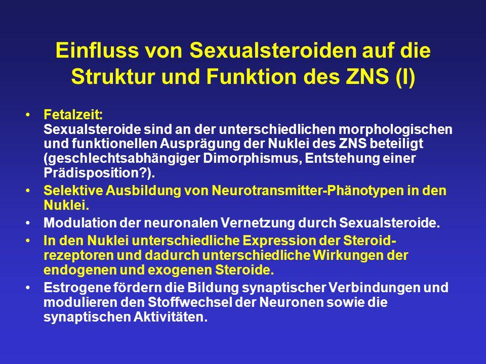 Einfluss von Sexualsteroiden auf die Struktur und Funktion des ZNS (I)