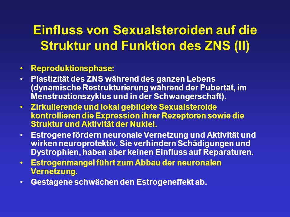 Einfluss von Sexualsteroiden auf die Struktur und Funktion des ZNS (II)