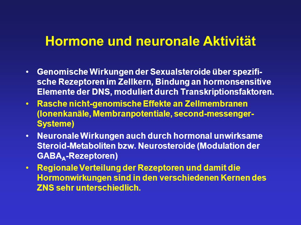 Hormone und neuronale Aktivität