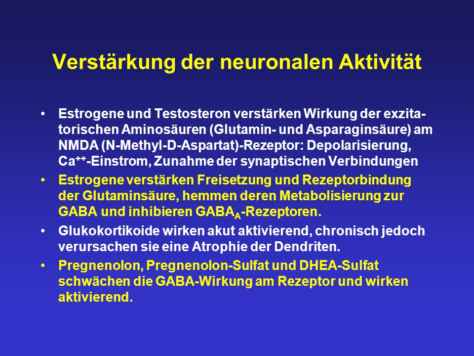 Verstärkung der neuronalen Aktivität