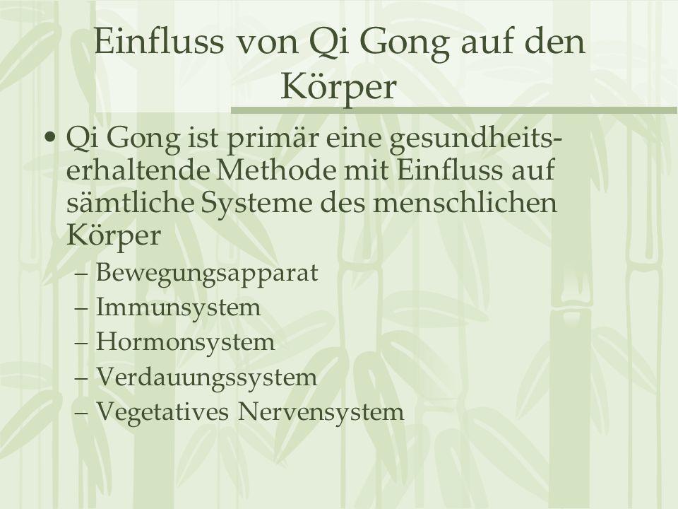 Einfluss von Qi Gong auf den Körper