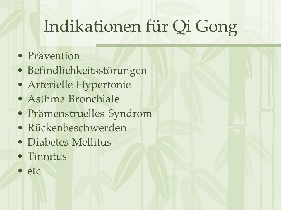 Indikationen für Qi Gong